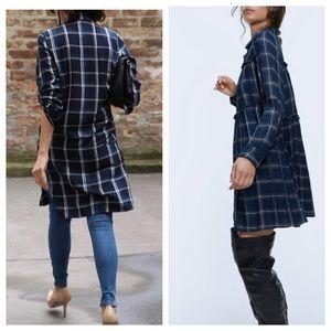 Zara Tartan Check Shirt Dress
